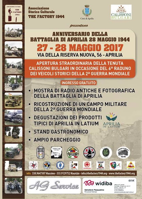 Radio d'epoca: anniversario battaglia di Aprilia del 28 maggio 1944