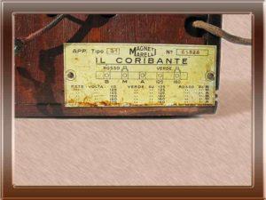 Radio Radiomarelli Coribante - Collezione di Franco Nervegna
