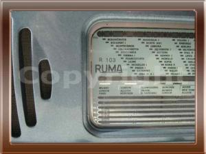 Radio Ruma r103 della collezione di Franco Nervegna