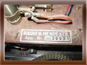 Radio Mende DKE38 - Collezione di Franco Nervegna