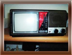 Foto della collezione di Franco Nervegna: televisore portatile d'epoca Geloso.